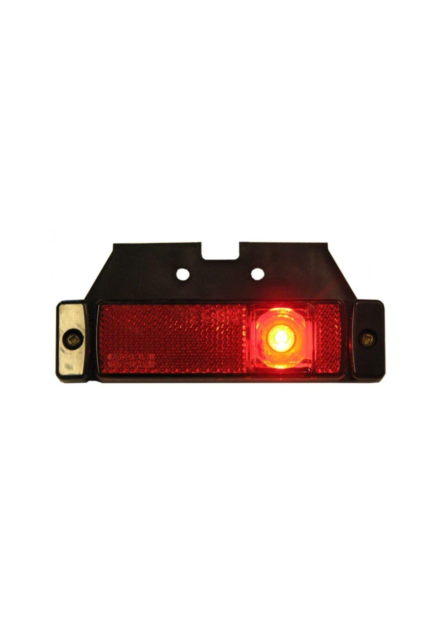 Strands Positionsljus LED Röd 12-24V med fäste. E-märkt.